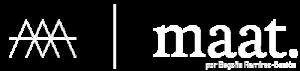 Logo Maat horizontal Blanco