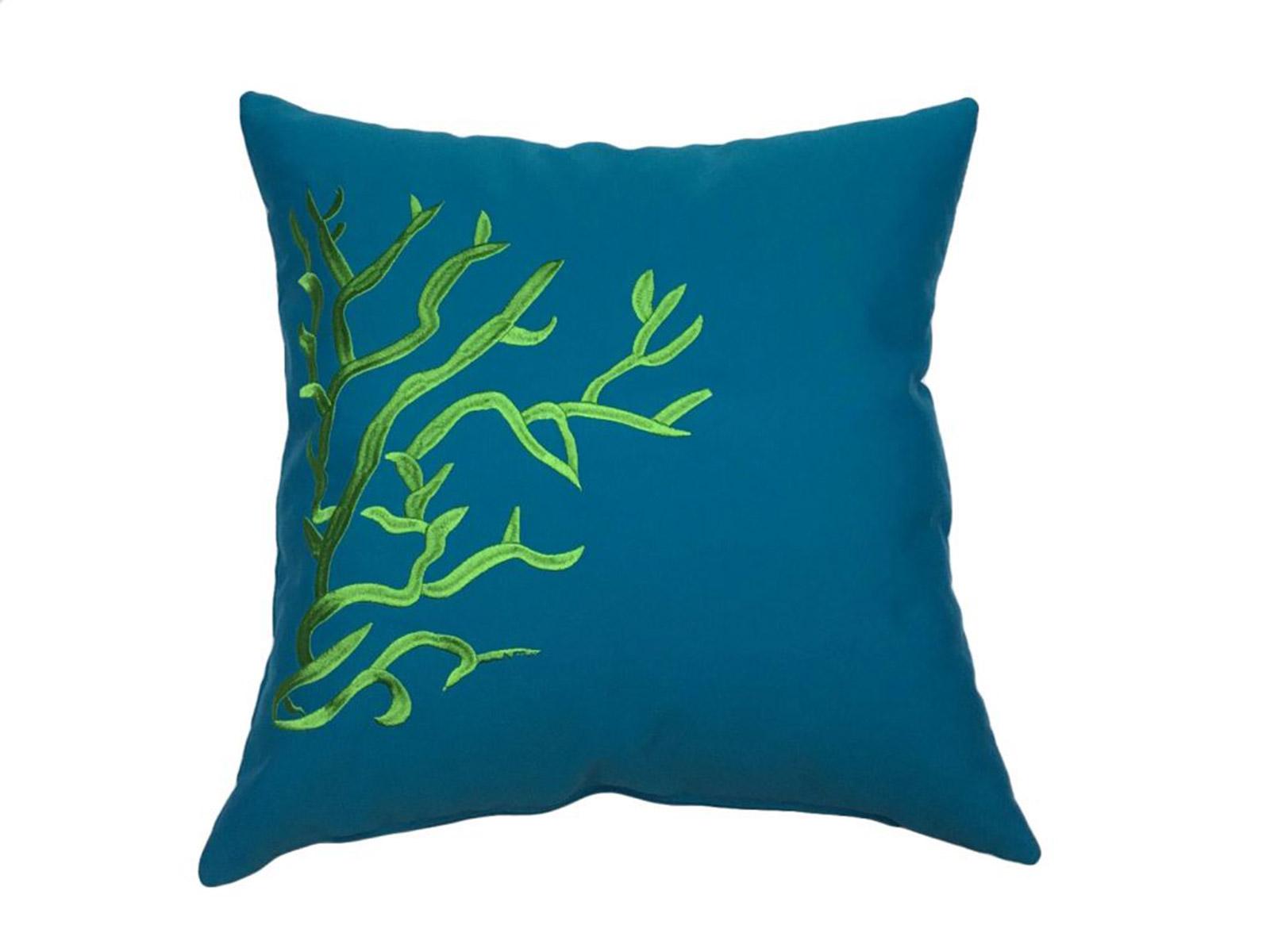 cojin corales verde turquesa