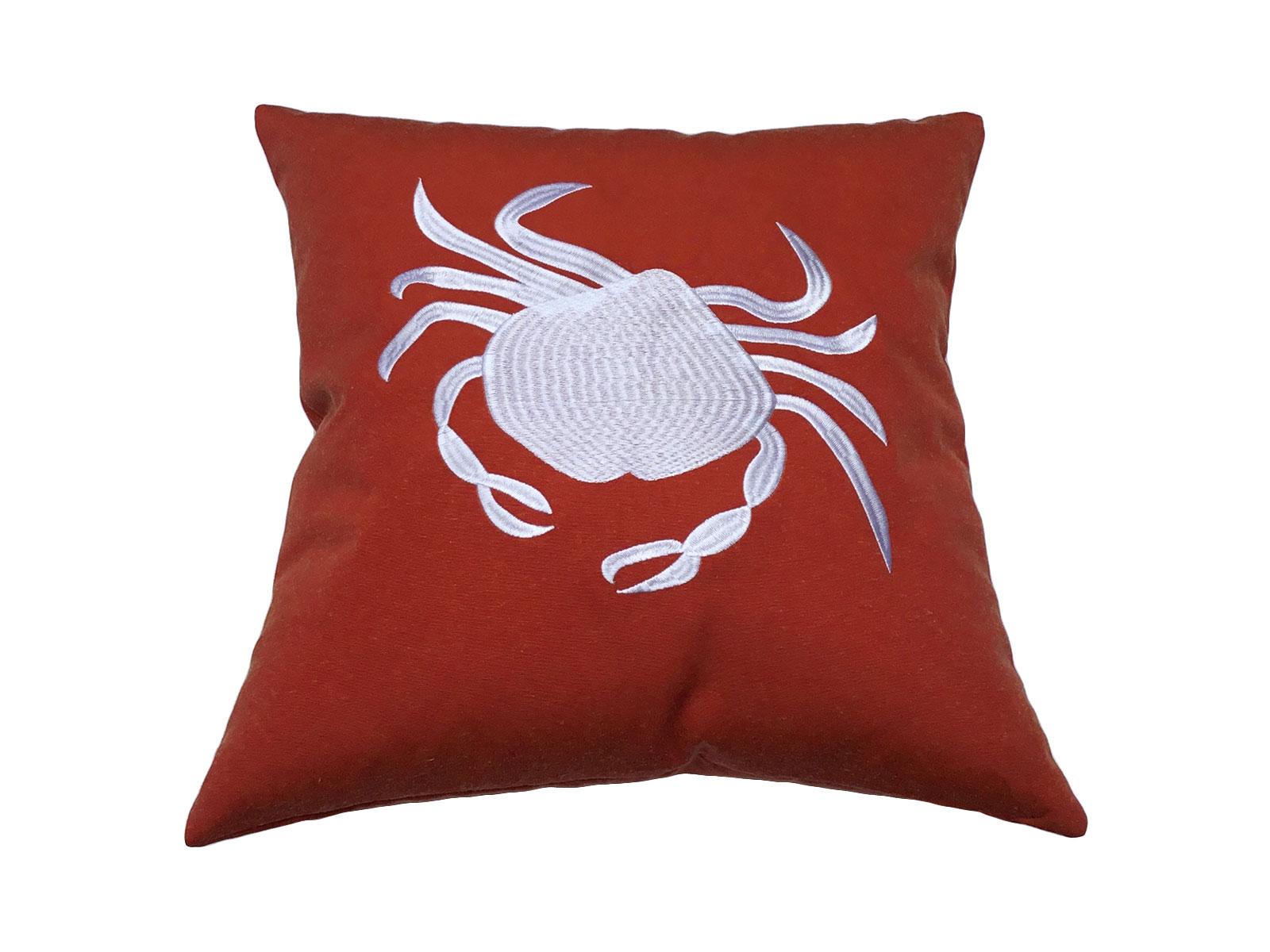 cojin crab blanco mandarina