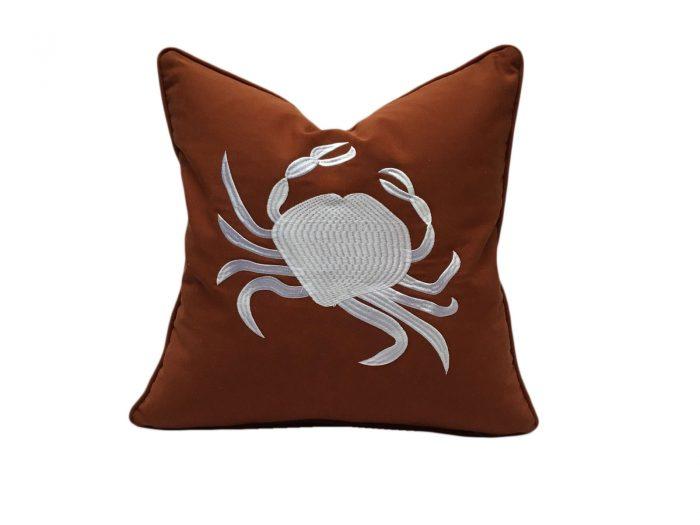 cojin crab blanco terracota