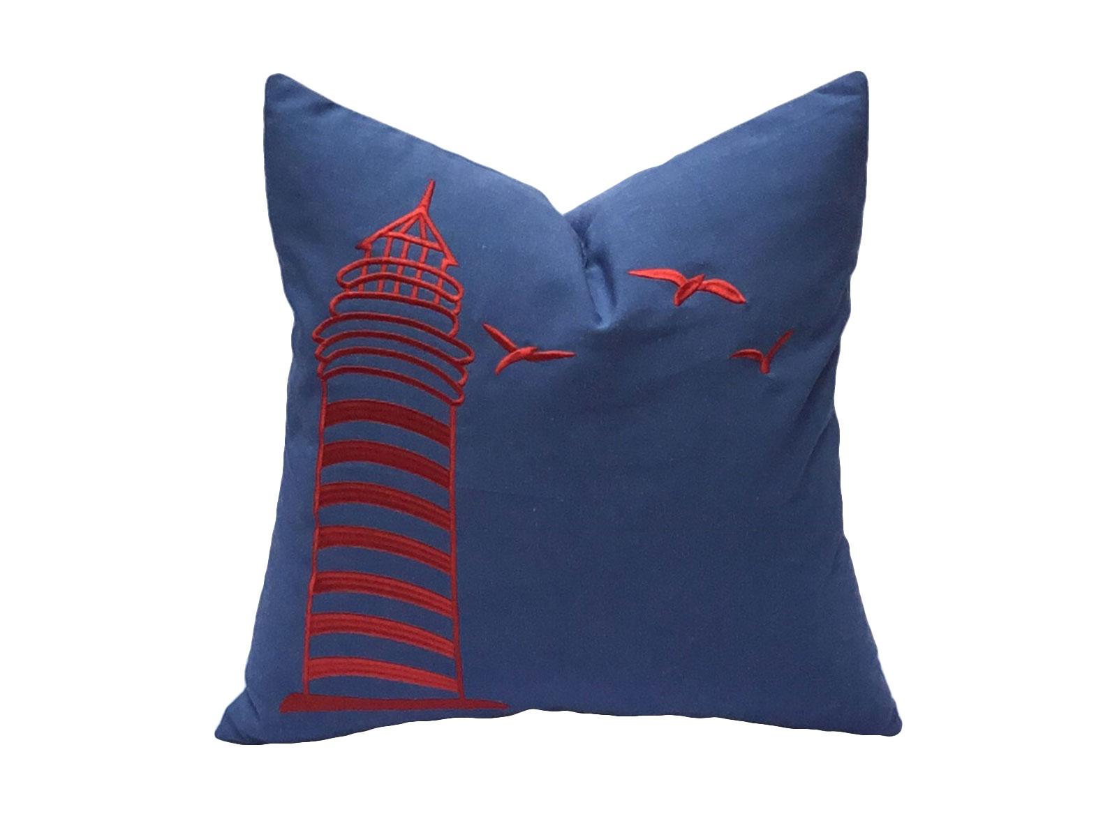 cojin la marina rojo azul