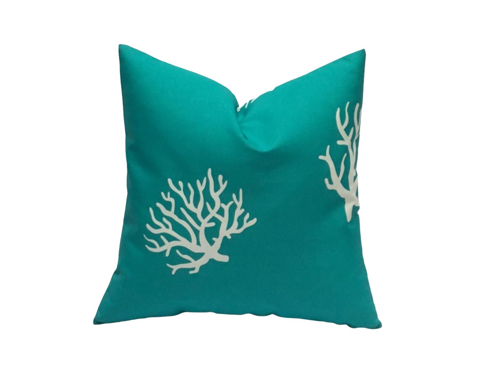 cojin corales turquesa