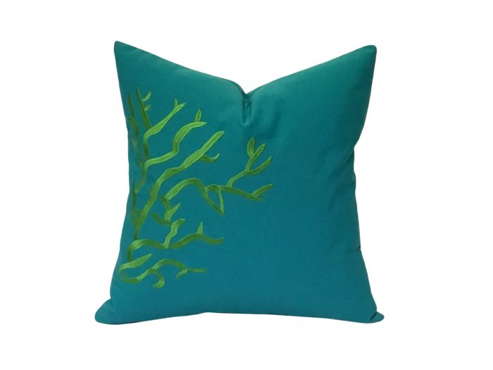 cojin corales verde jade