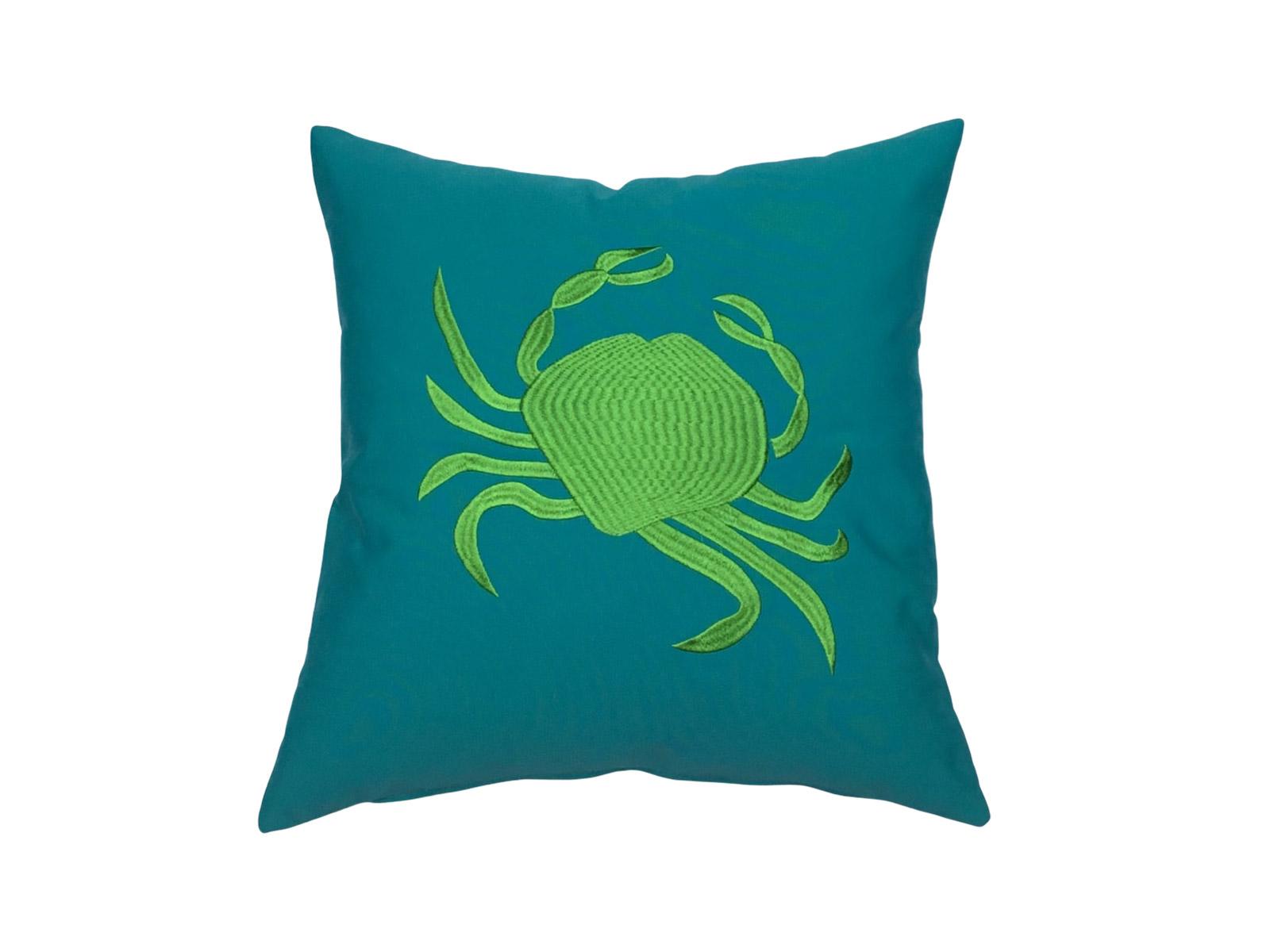 cojin crab verde jade